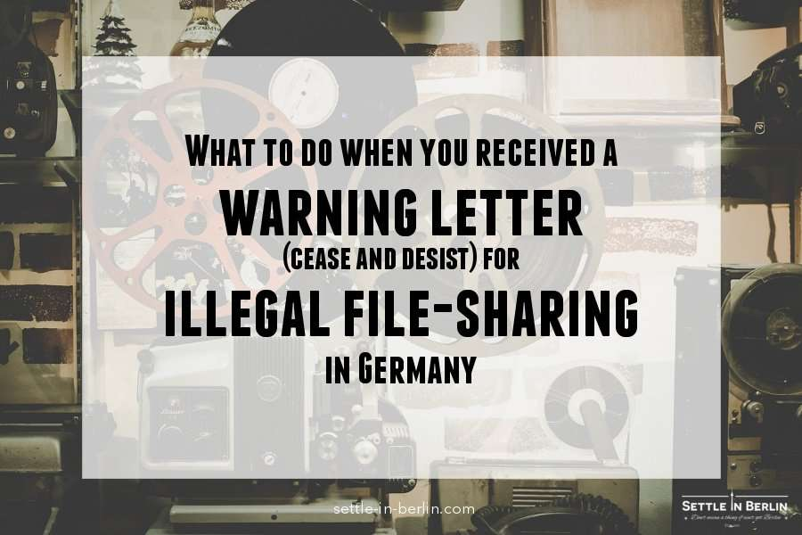 Warning letter illegal file sharing germany
